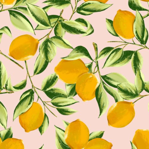 Lemon print illustration