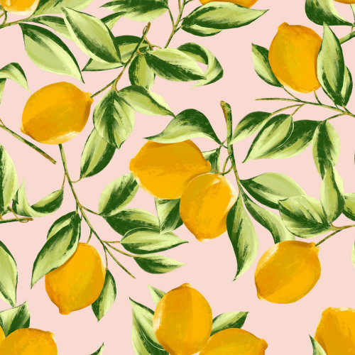 Illustration d'impression de citron