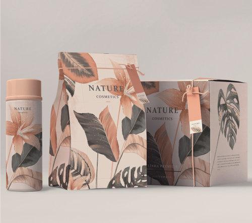 illustration d'emballage de produit de beauté