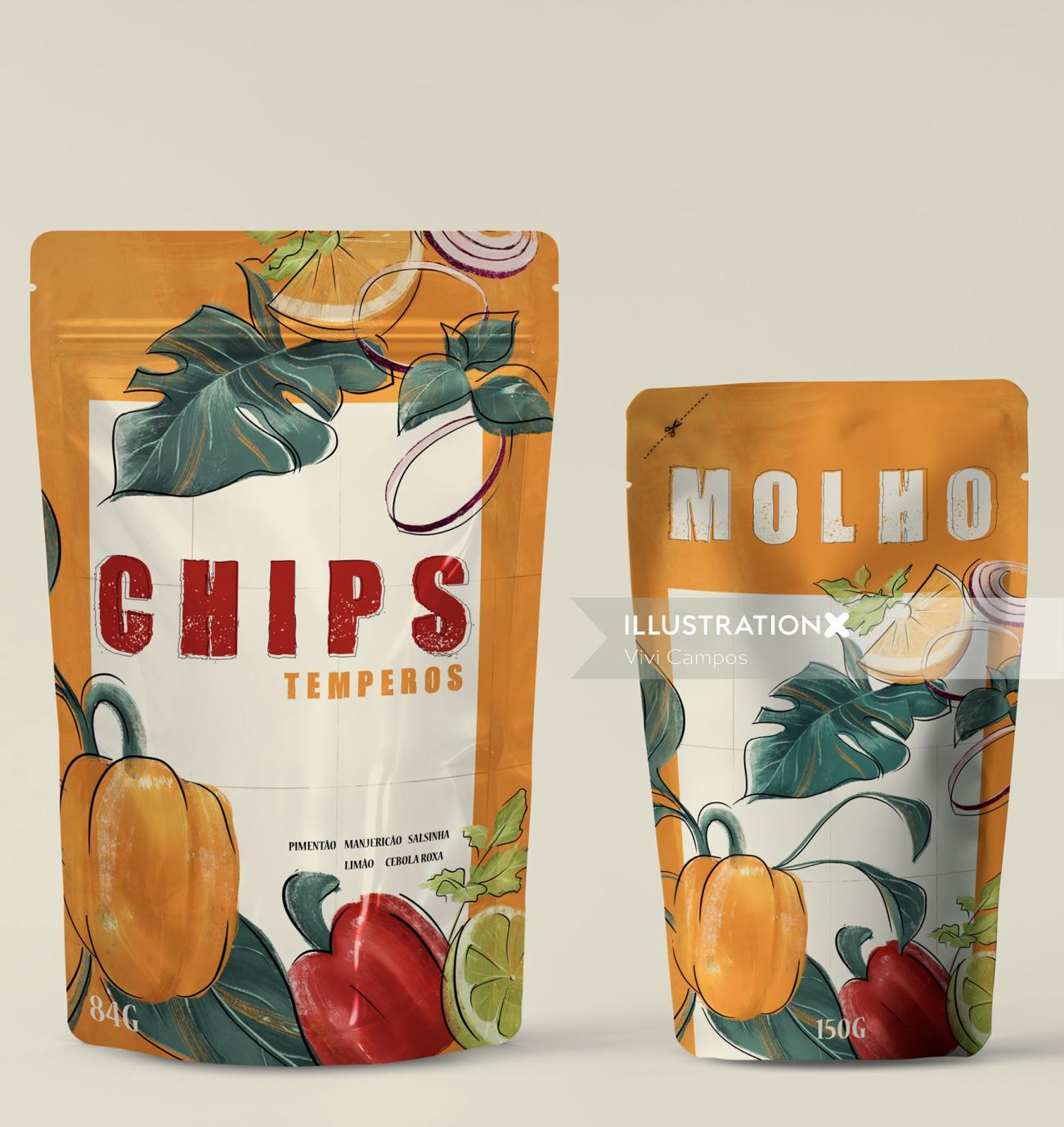 Advertising chips temperos