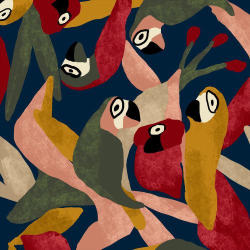 Motif oiseaux de mode