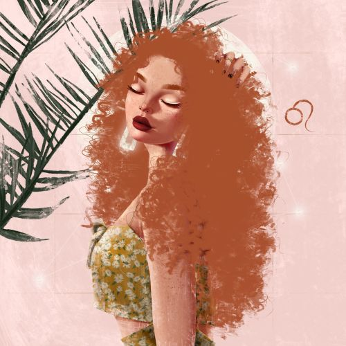 Fashion curly haired girl