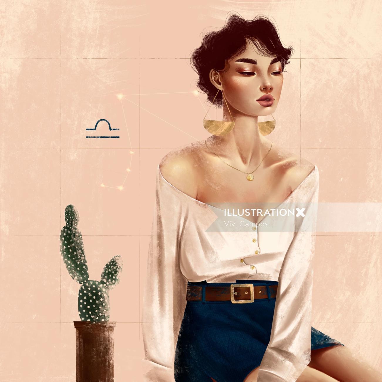 woman fashion illustration