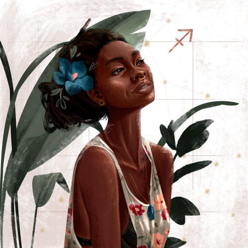 Mode femme avec fleur bleue