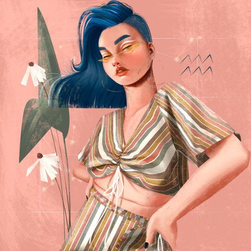 Conception des personnages de femme élégante posant
