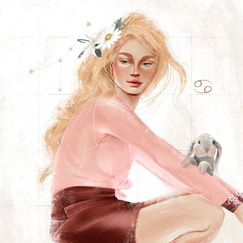 Fashion woman with bunny