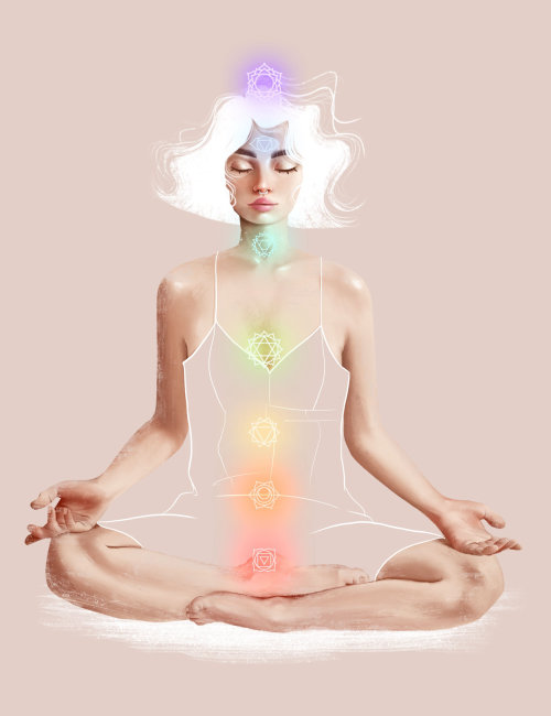 Conception des personnages de la méditation de la femme