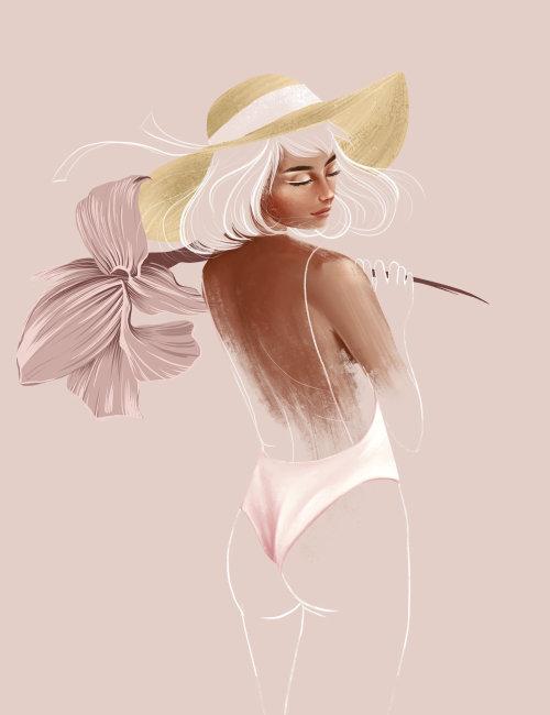 Mode femme posant en bikini