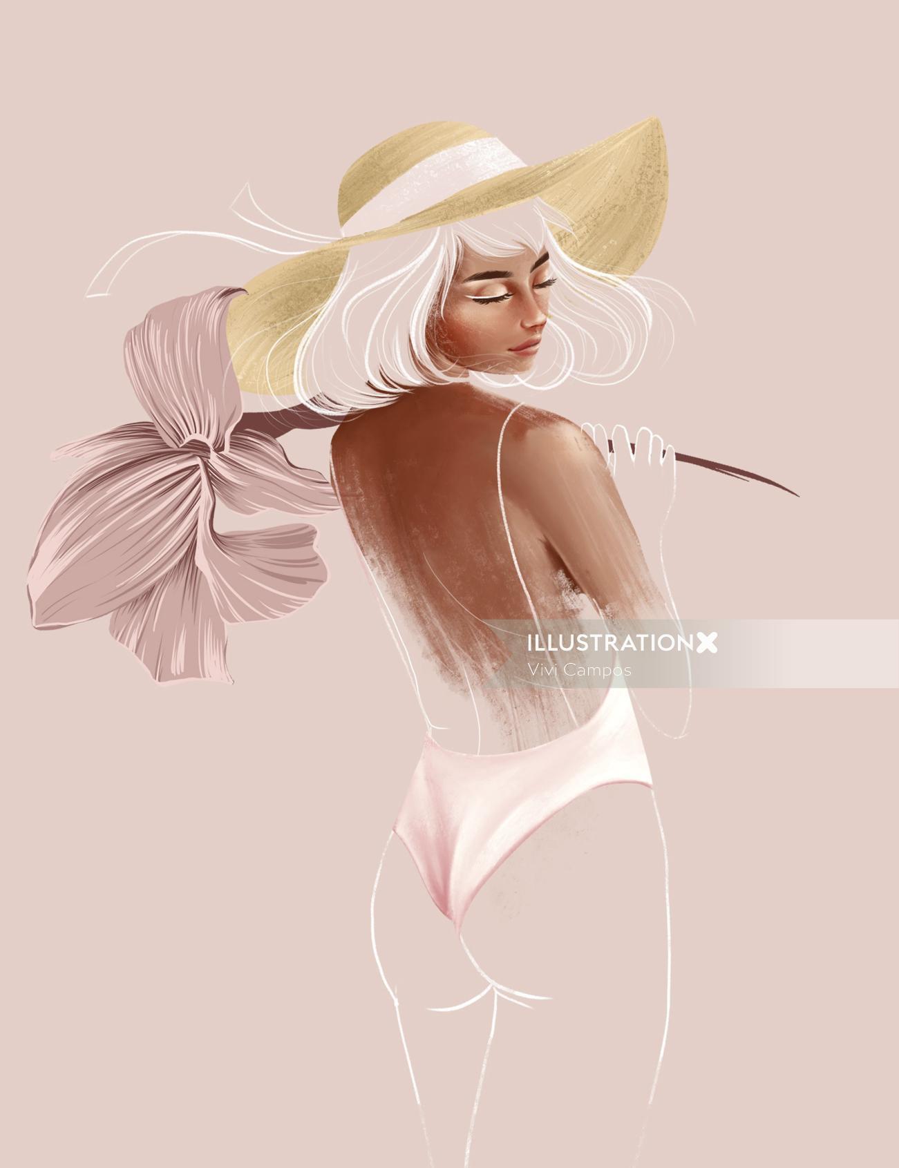 Fashion woman posing in bikini