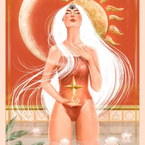 Tarot card illustration