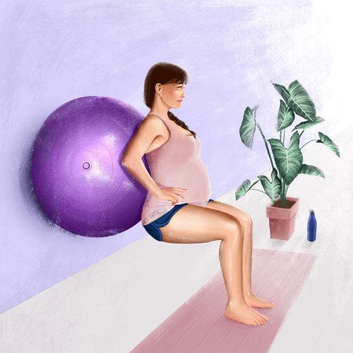 femme enceinte, travailler