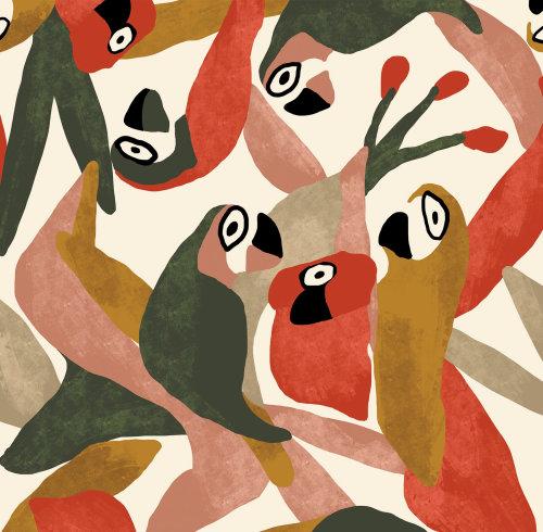 Graphic Birds pattern