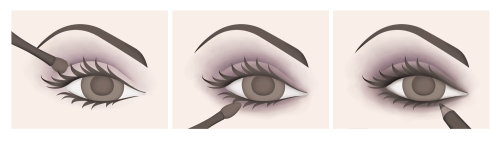 Instructional illustrations for Avon Products - PSII Eye Shadow