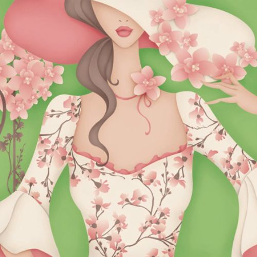 Editorial illustration for Rouge Magazine, monthly Beauty Bag page.
