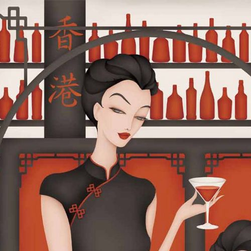 Third illustration in my Hong Kong Beauty Series, set in secret places of Beauty in Hong Kong. This
