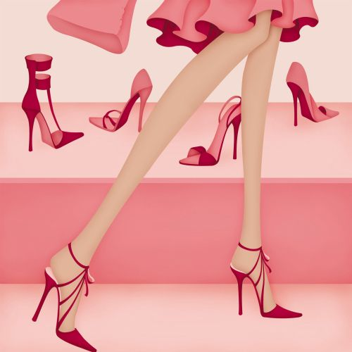 Editorial illustration for Good Taste Magazine, for an article title 'High Heel Hell'.