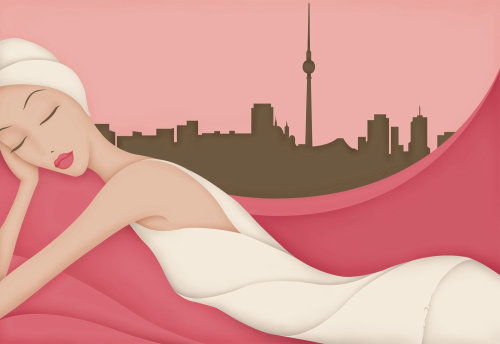 Editorial illustration for Gala Magazine, for an article titled 'Wellness in Berlin'