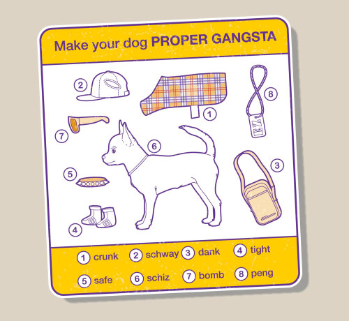 Info-graphic diagram about dog essentials
