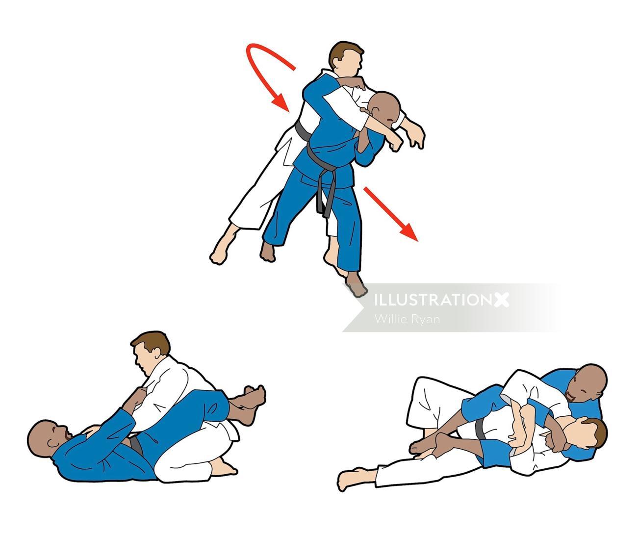 Holland and Barrett Ju Jitsu Vector graphic