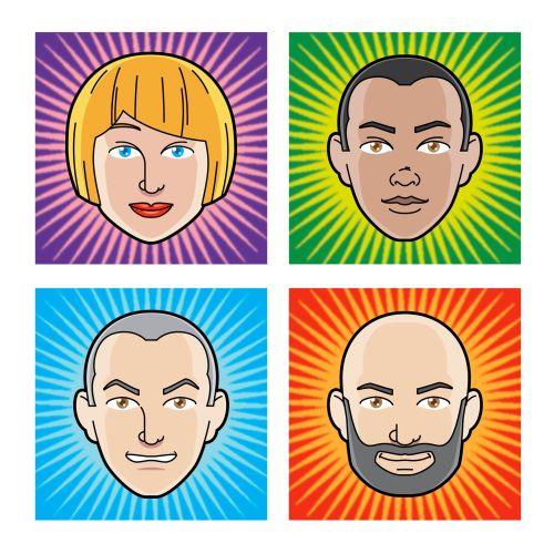 Avatar emoticon faces for fantasy football site