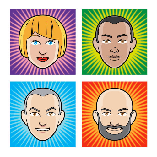 avatar emoticon faces for fantasy football site graphic character race