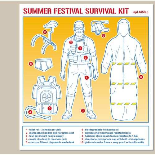 Festival survival kit vector graphic