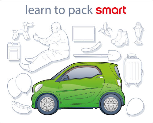 Smart car packing Infographic icon