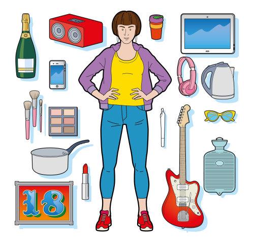 student, girl, uni, university, young, lifestyle, shopping, fashion, college, guitar,