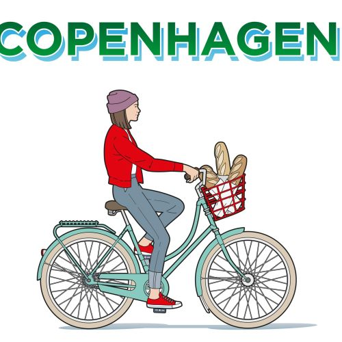 Copenhagen poster illustration for Martel Print U.K