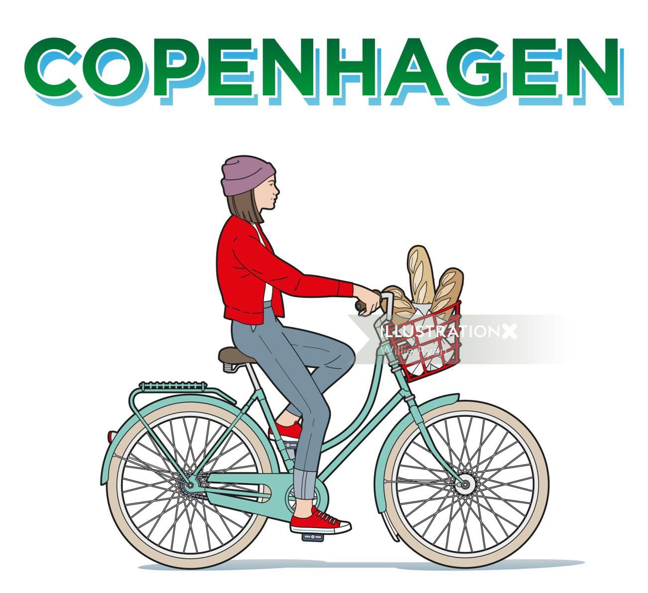 Copenhagen, Denmark, Danish, bicycle, bike, cycle, cycling, student, girl, lifestyle
