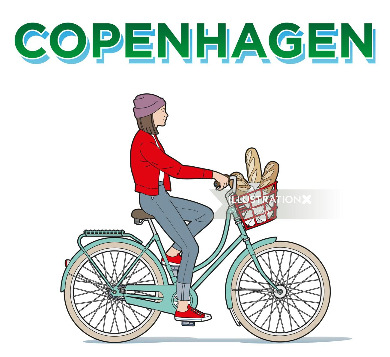 Copenhagen poster illustration for Martel Print U.K