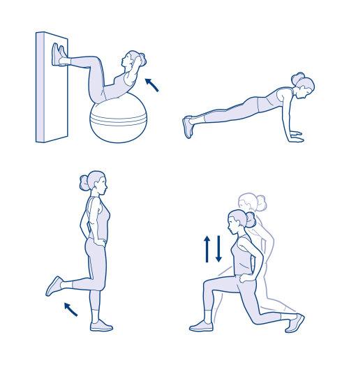 waitrose ski fitness graphic