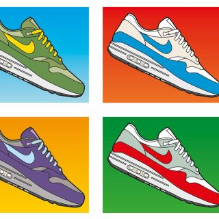 Graphic illustration of Nike homage by Willie Ryan