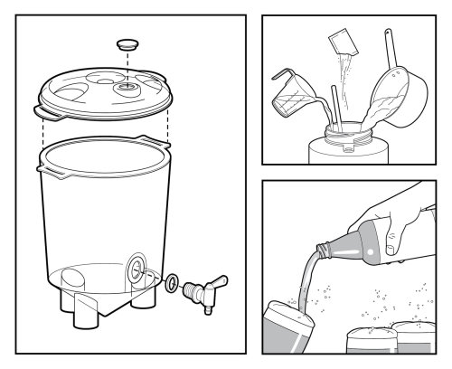 Infographic illustration of Step by step brew instructions
