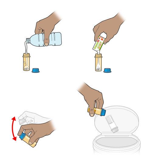 Medicine dosage infographic illustration