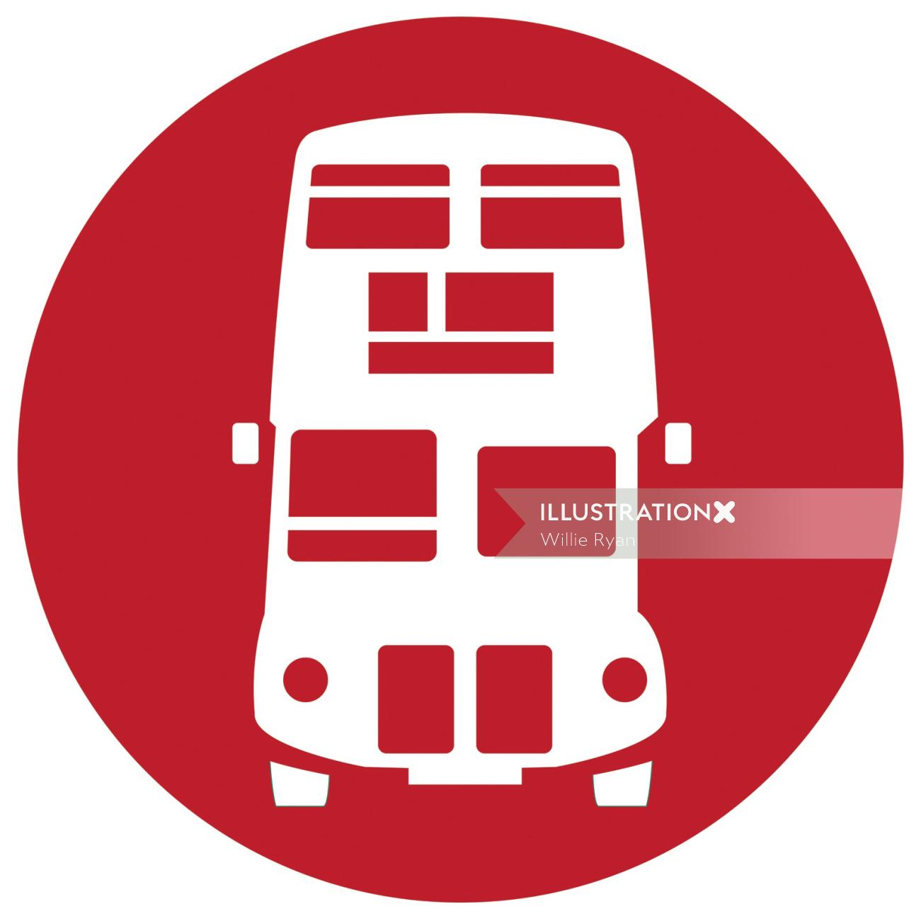 Colorful bus icon