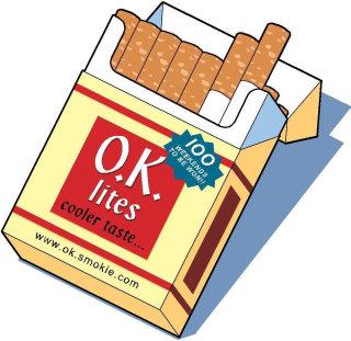 Cigarette pack illustration by willie Ryan
