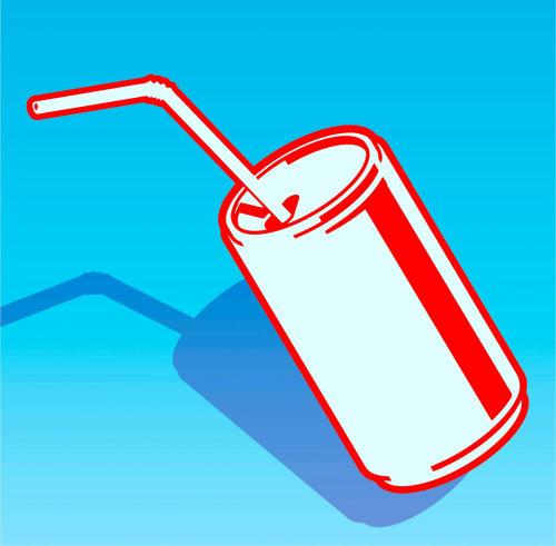 食物和饮料汽水罐