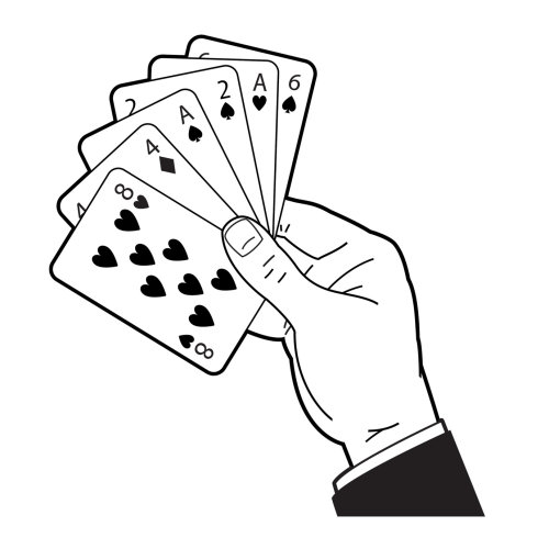 Black and white illustration of Magic Hands