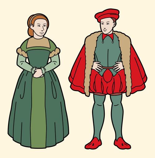 """""""勋爵和小夫人""""的形象化插图"""