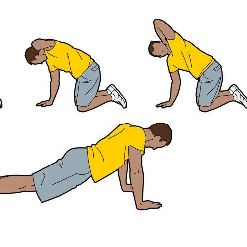 man exercising illustration by Willie Ryan