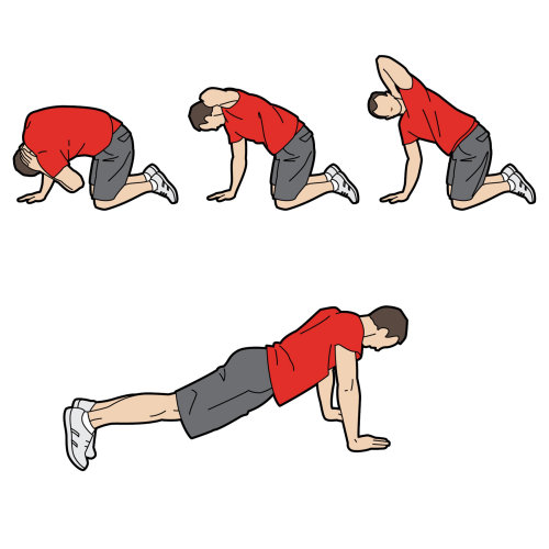 man exercising illustration by Willie Ryan