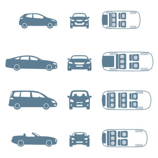 Vector illustration of different model cars