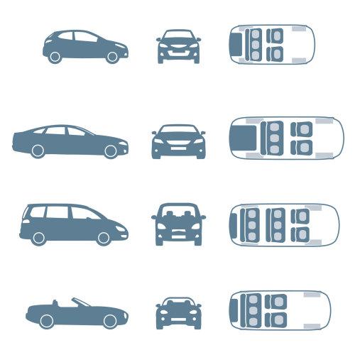 矢量图的不同模型的汽车