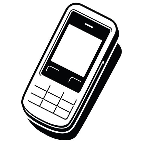 Mobile phone icon illustration