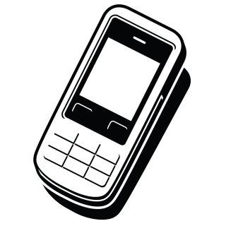 Mobile phone icon illustration