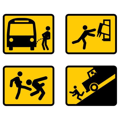 Illustration of bad stickman situation