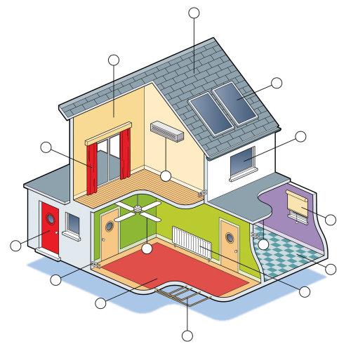 基于Hastings插画家的生态房屋图