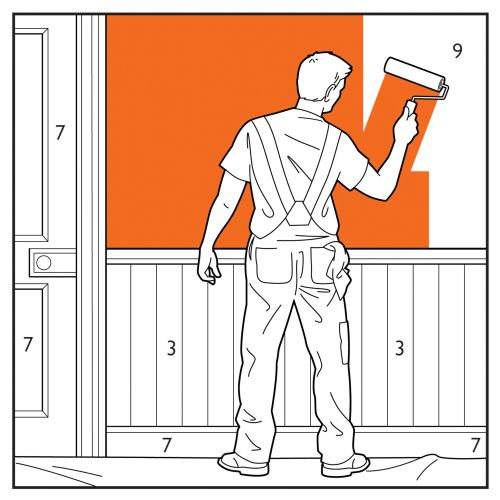 Willie,Ryan,illustrator,illustration,graphic,children's book,housepainter,decorator, man painting wa