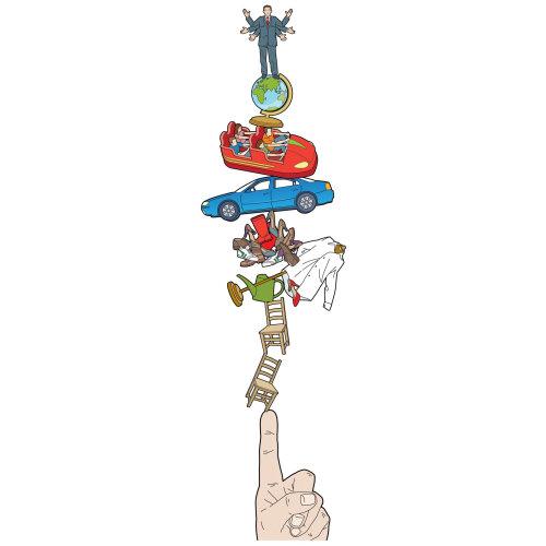 Willie,Ryan,illustrator,illustration,graphic,children's book, people,figures, diagram,tower, insuran